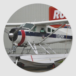 Float plane 24, Lake Hood, Alaska Round Sticker
