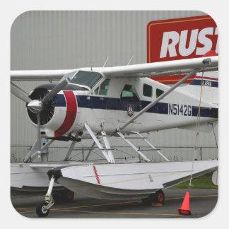 Float plane 24, Lake Hood, Alaska Square Sticker