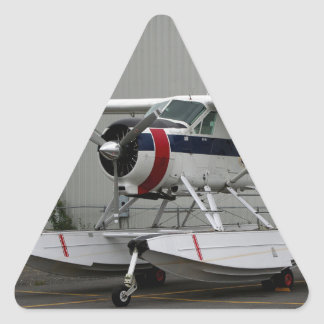 Float plane 24, Lake Hood, Alaska Triangle Sticker