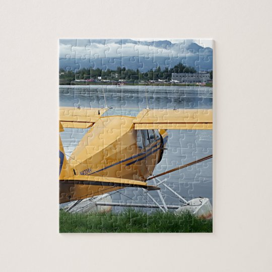 Float plane 6, Lake Hood, Anchorage, Alaska, USA Jigsaw Puzzle