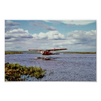Float Plane on Lake Poster