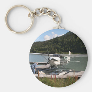 Float plane, Trail Lake, Alaska 2 Basic Round Button Keychain