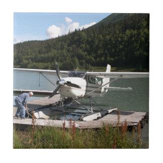 Float plane, Trail Lake, Alaska 2 Ceramic Tile