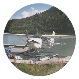 Float plane, Trail Lake, Alaska 2 Plates