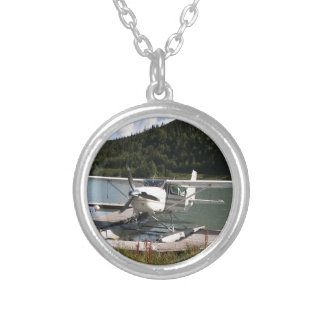 Float plane, Trail Lake, Alaska 2 Silver Plated Necklace