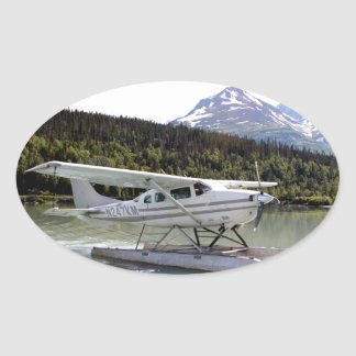 Float plane, Trail Lake, Alaska 3 Oval Sticker