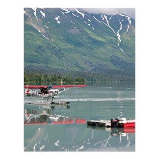 Float plane, Trail Lake, Alaska Custom Letterhead