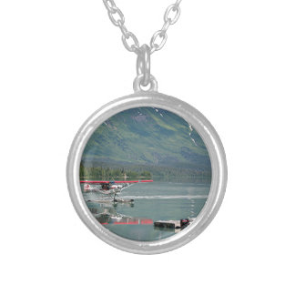 Float plane, Trail Lake, Alaska Silver Plated Necklace