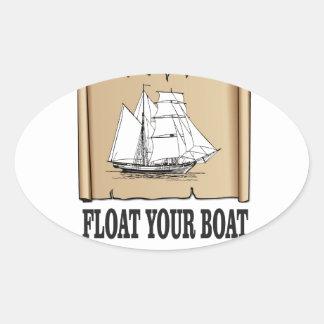 float your boat marker oval sticker