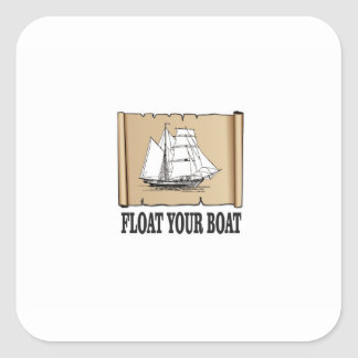 float your boat marker square sticker