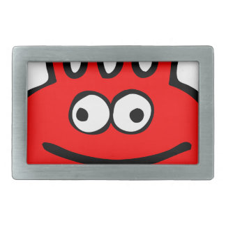 Floatie Monster red Rectangular Belt Buckle
