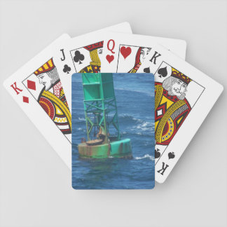 Floating along, standard playing cards