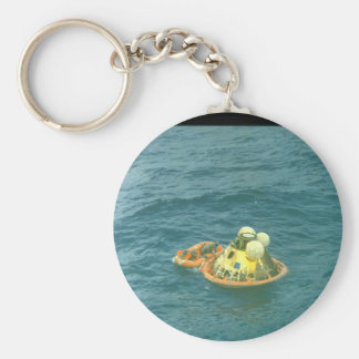 Floating at sea_Space Basic Round Button Keychain