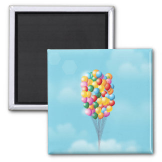 Floating Balloons up and away. Magnet