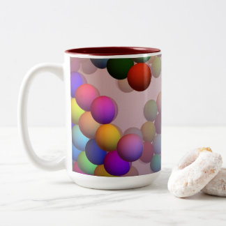 Floating Beads (Balls) do not Sink Two-Tone Coffee Mug