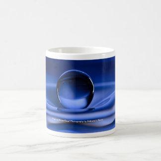 Floating Blue Water Drop Coffee Mug
