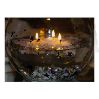 Floating Candles: Warmest wishes for the holidays! Card