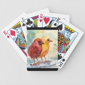 Floating Chicks Bicycle Playing Cards