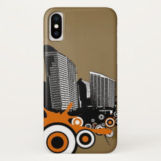 Floating city with plants iPhone x case