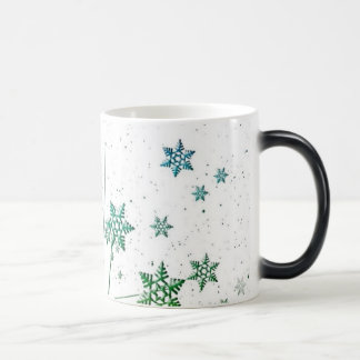 Floating Colored Snowflakes and Grass Magic Mug