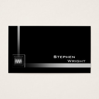 Floating Corner Monogram Cube Modern Custom Color Business Card
