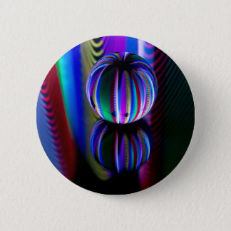 Floating crystal ball 2 inch round button