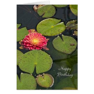 Floating Dahlia Card