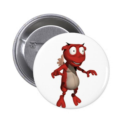 Floating Demon Pinback Buttons