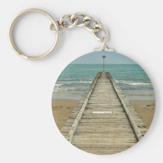floating dock basic round button keychain