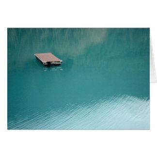 Floating Dock on Lake Crescent Card