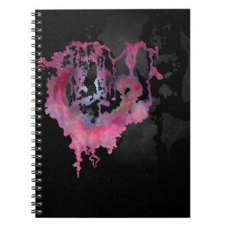 Floating Fantasy World & Moon Spiral Notebook