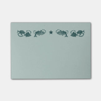 Floating Fish Turquoise Post-it® Notes