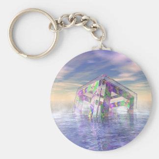 Floating Fractal Keychain