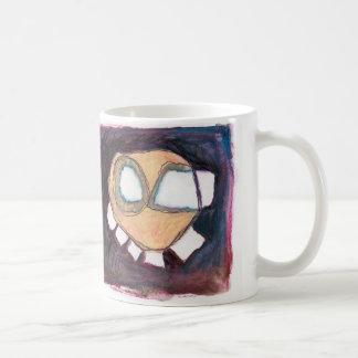 floating head coffee mug. coffee mug