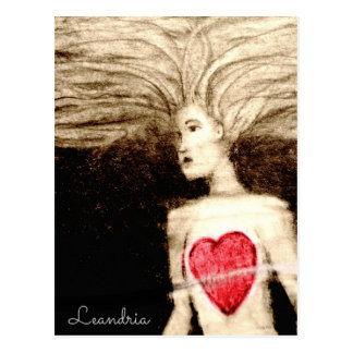 FLOATING HEARTlargefile Postcard