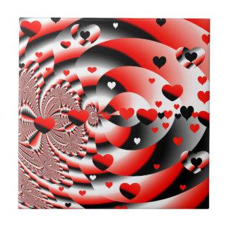 Floating Hearts Ceramic Tiles