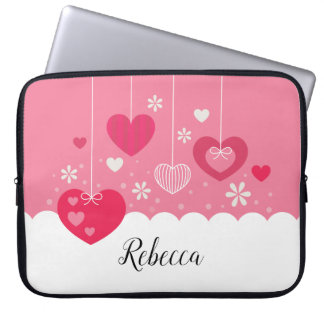 Floating Hearts laptop sleeve