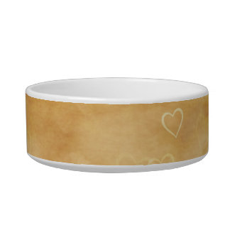Floating Hearts on Antiqued Background Bowl