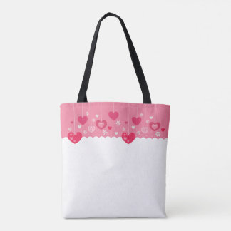 Floating Hearts tote bag