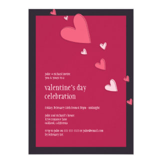 Floating Hearts   Valentine's Party Invitation