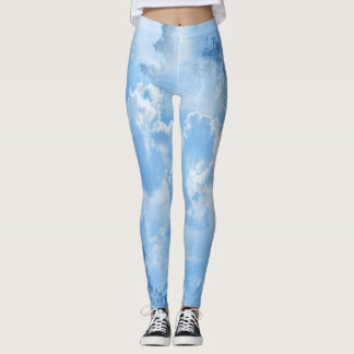Floating in the clouds... leggings