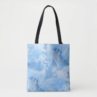 Floating in the clouds... tote bag