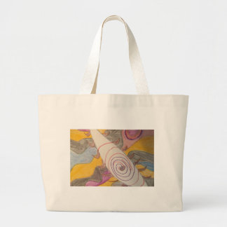 Floating in The Rainbow Void Large Tote Bag