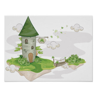 Floating Island House Poster