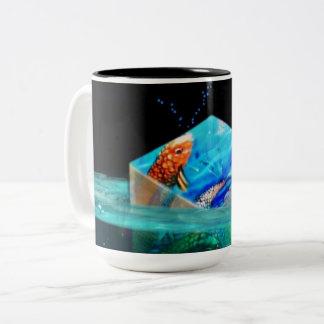 Floating Koi Cube Two Tone Mug
