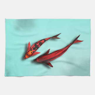 Floating Koi Fish Kitchen Towel