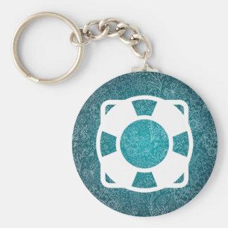 Floating Lifesavers Symbol Keychain