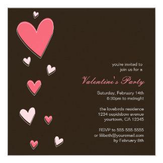 Floating Love Hearts | Valentine's Party Custom Invites