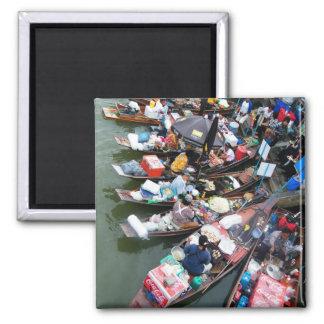 Floating Market At Amphawa,Thailand Magnet