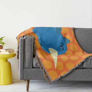 Floating Narwhal - Throw Blanket